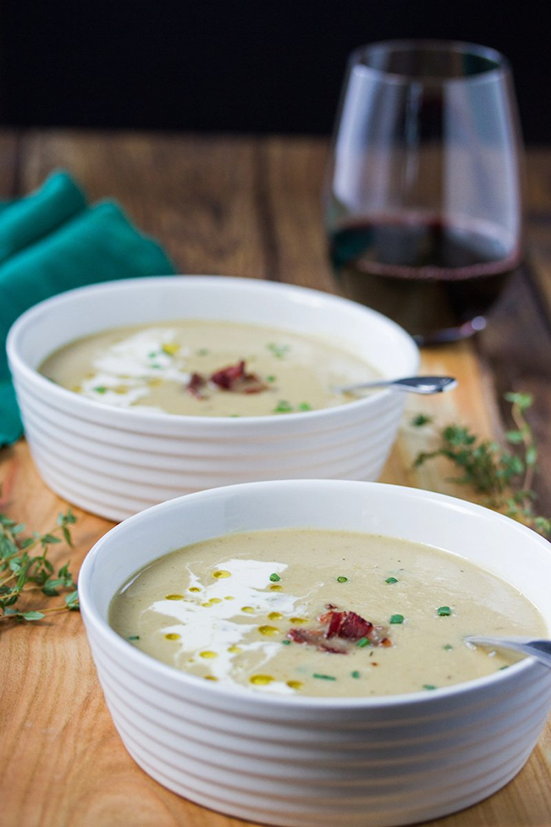 Celeriac Soup with Gruyere and Truffle Oil – Honest Cooking
