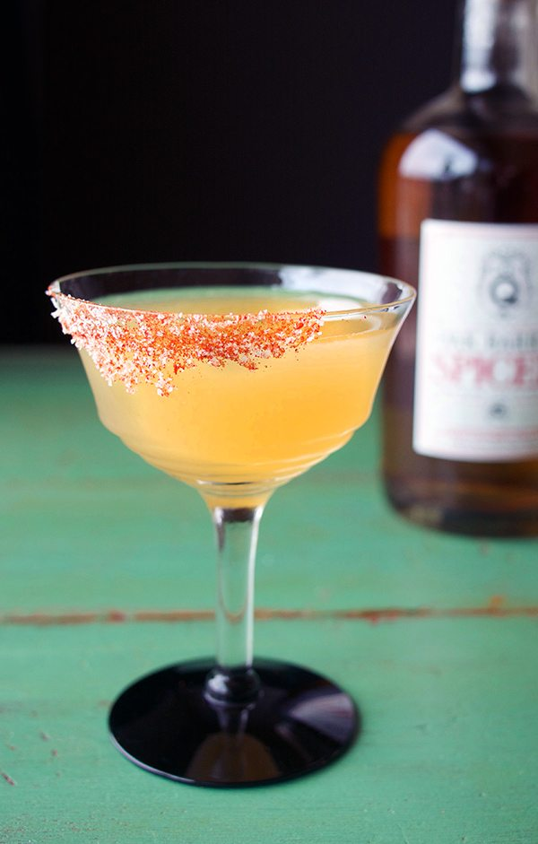 Spiced Rum Guava Gunpowder Cocktail