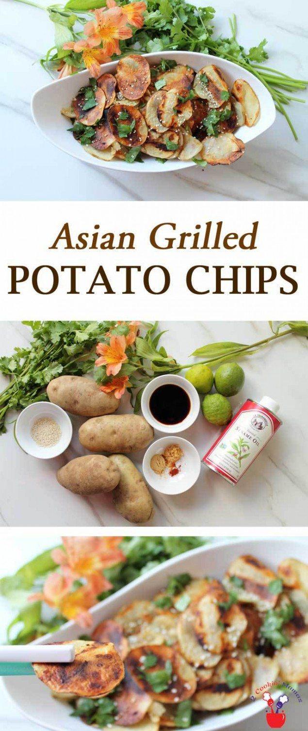 Grilled Sesame-Ginger Potato Chips