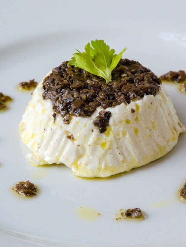 Sformatino di Ricotta with Black Truffle Sauce