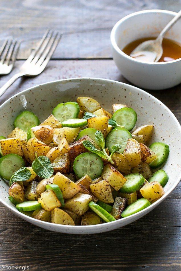 Sumac Potatoes and Cucumber Salad