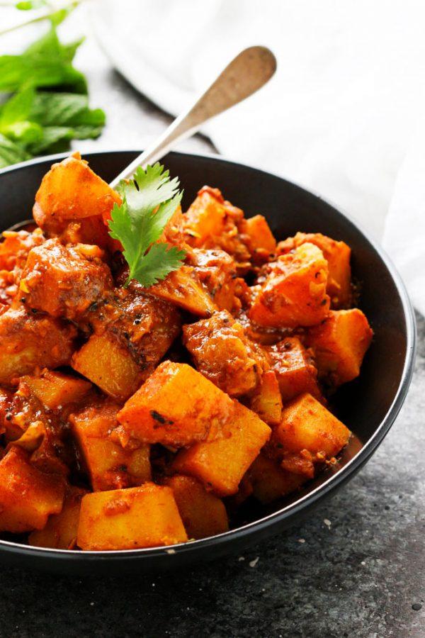 Potato Vindaloo Curry