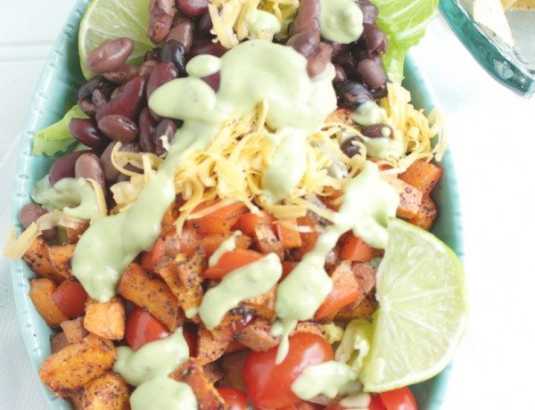 southwestern-salad-with-avocado-lime-dressing-petitfoodie