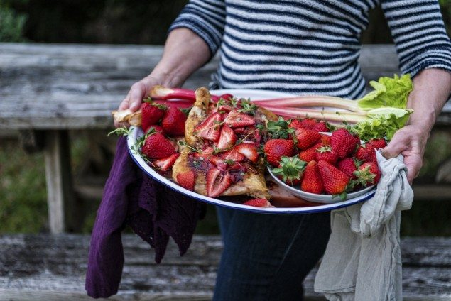 33433551043_cChicken with Strawberry Rhubarb Balsamic Glaze