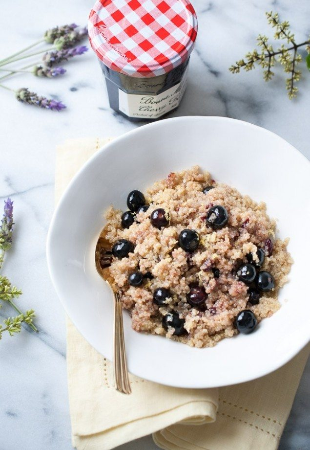 Warm Coconut and Fruit Breakfast Quinoa