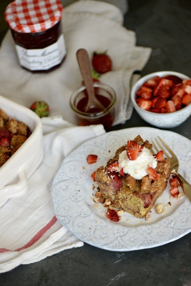 Strawberry Bread Pudding