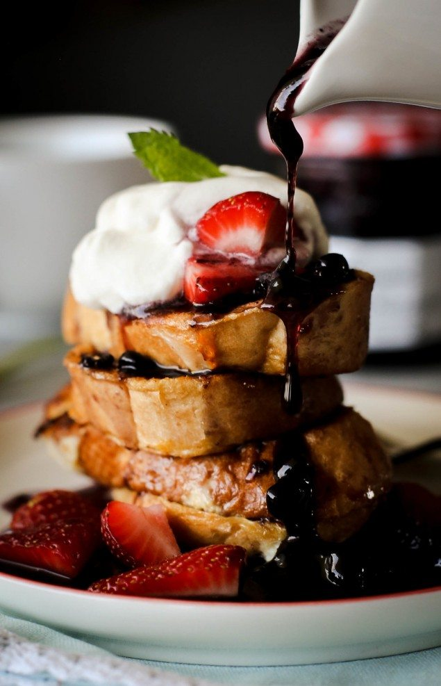 Blueberries and Cream French Toast