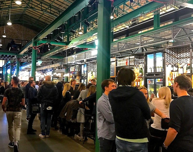 Hala Koszyki, a new market hall, is always buzzing