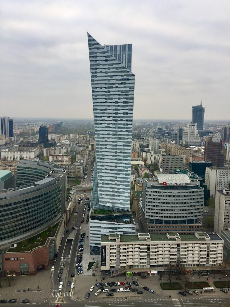 Tall building designed by Polish-American architect Daniel Libeskind