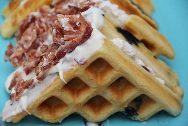 Blueberry Waffle Ice Cream Sandwiches