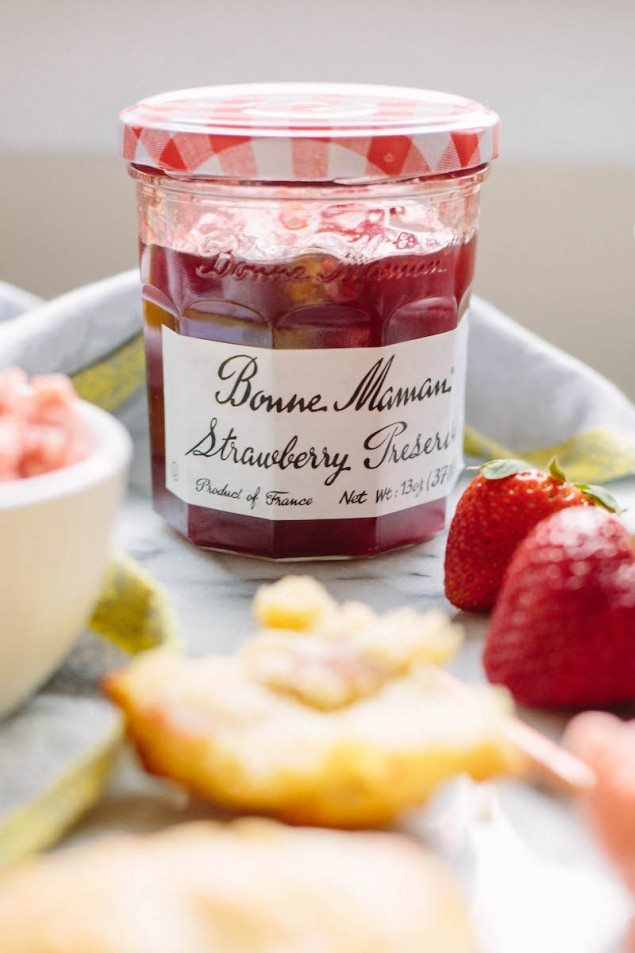 Strawberry Butter with Prosciutto and Goat Cheese Scones