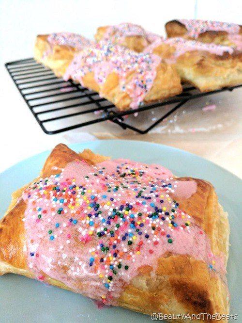 Almond Butter and Raspberry Breakfast Tarts