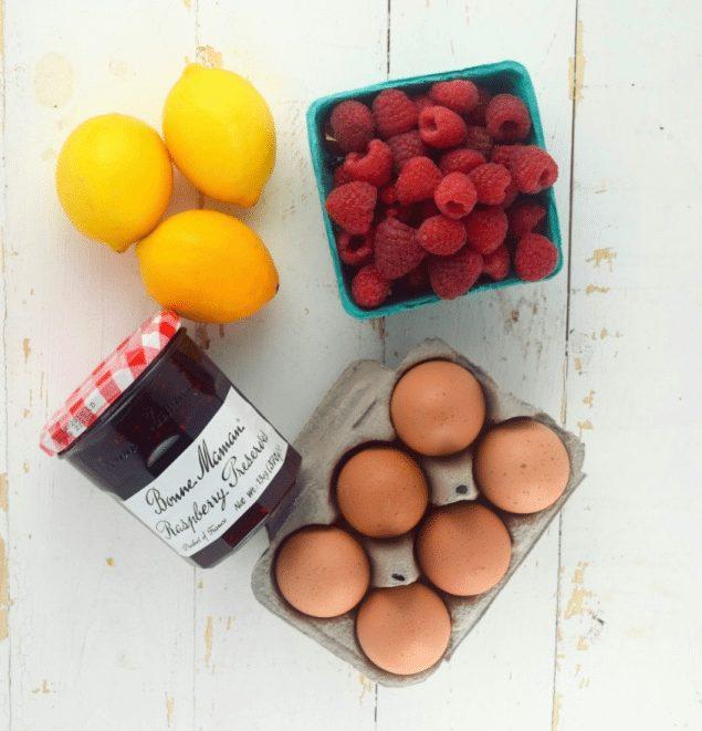 Greek Yogurt Lemon Pancakes with Raspberry Preserves