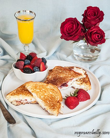 Ricotta and Strawberry Toasties – Honest Cooking