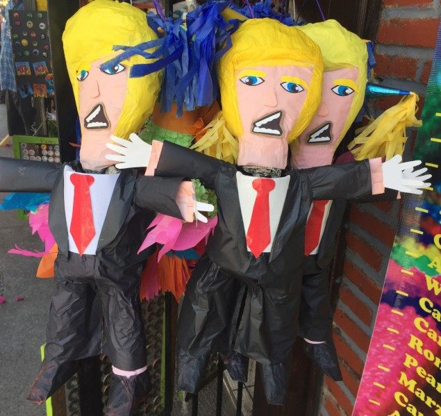 Can't resist adding this pic of Trump Pinata's