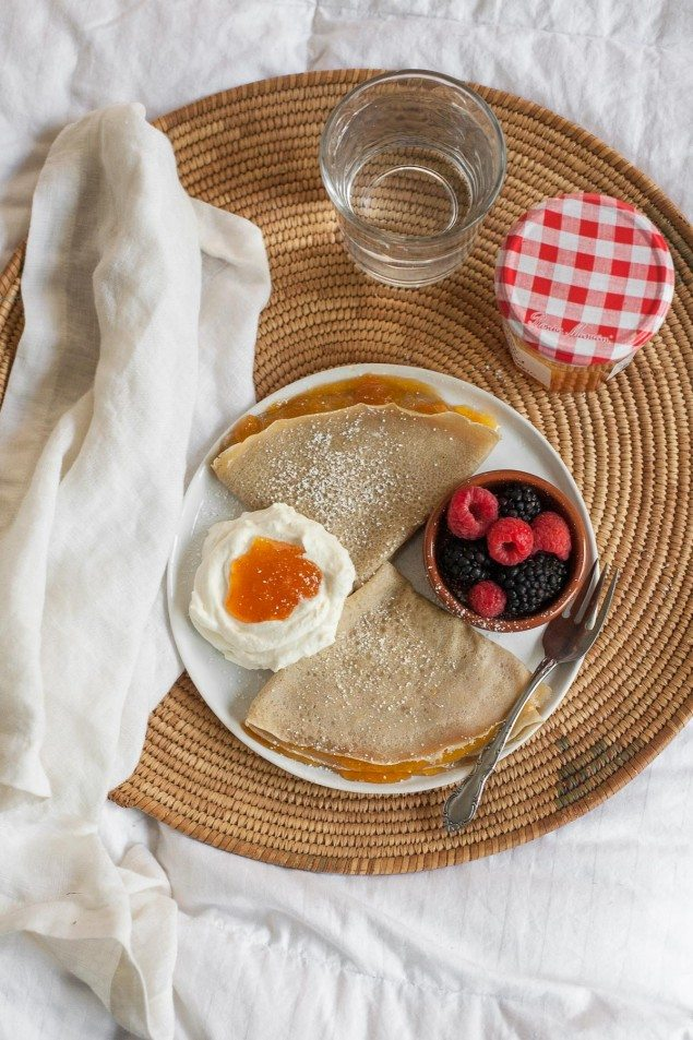 Apricot-Filled Gluten Free Crepes