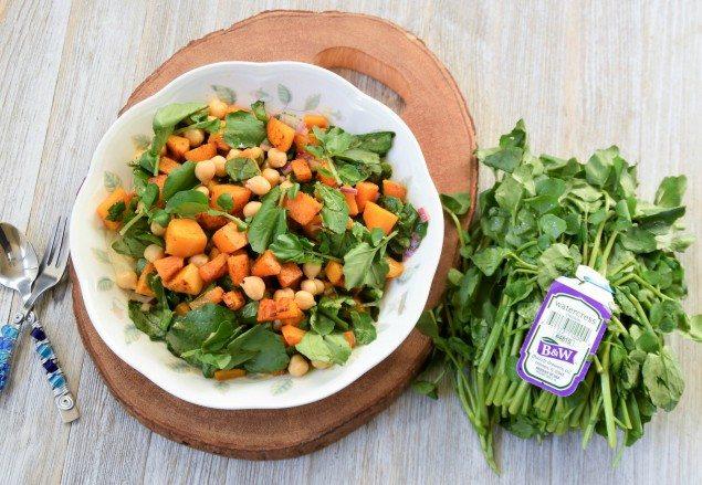 Spiced Butternut Squash Watercress Salad