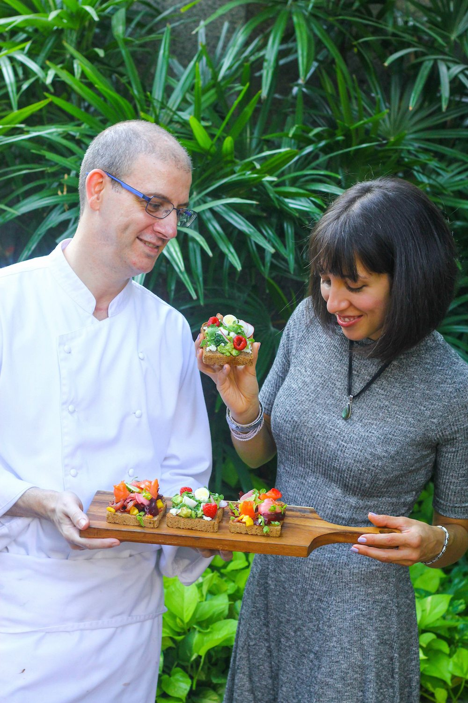 Ambra Torelli and Chef Rolando Manesco copy