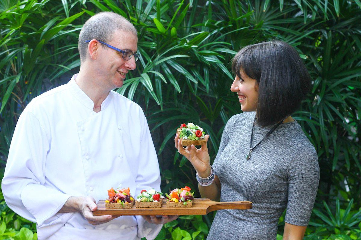 Ambra Torelli and the Chef of Intercontinental Bangkok