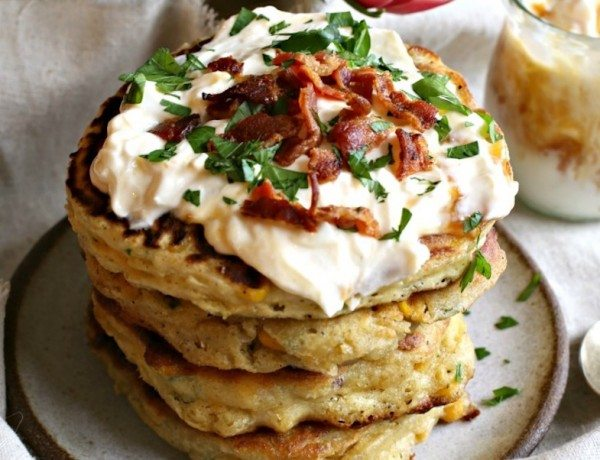 Bacon and Corn Fritters Vertical 690