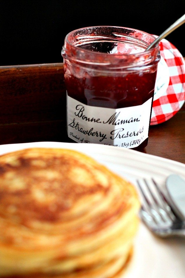 Strawberry Ricotta Fennel Pancakes