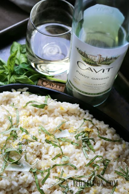 National Pinot Grigio Day: Lemon Basil Risotto