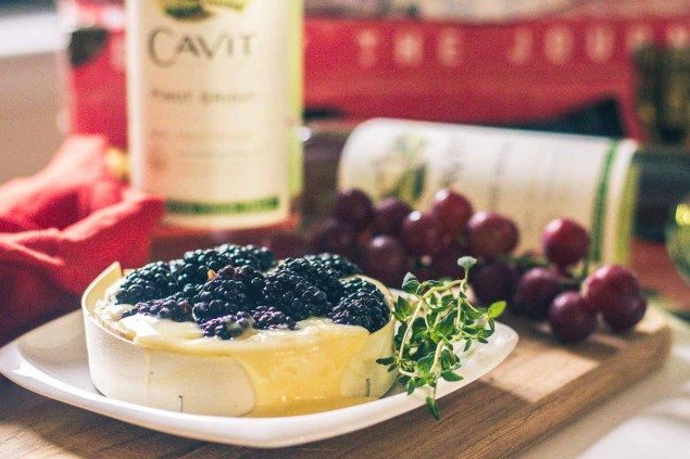 National Pinot Grigio Day with Baked Brie with Blackberries and Thyme ...