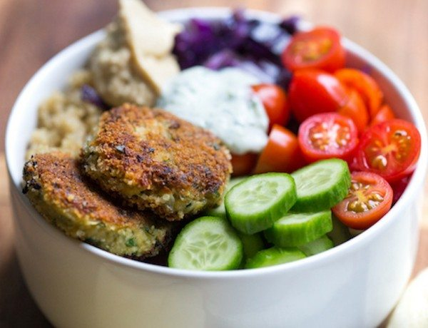 Falafel-Quinoa-Bowls