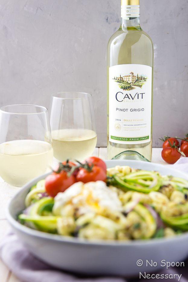 National Pinot Grigio Day: Summer Zucchini and Burrata Salad