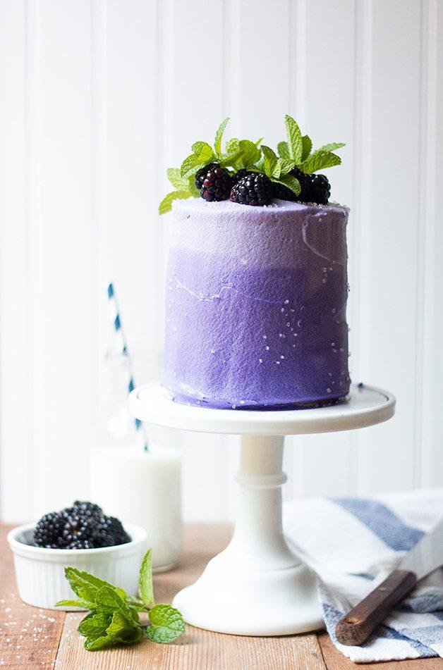Blackberry Marble Cake