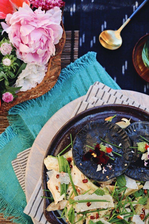 National Pinot Grigio Day: Squid Ink Ravioli