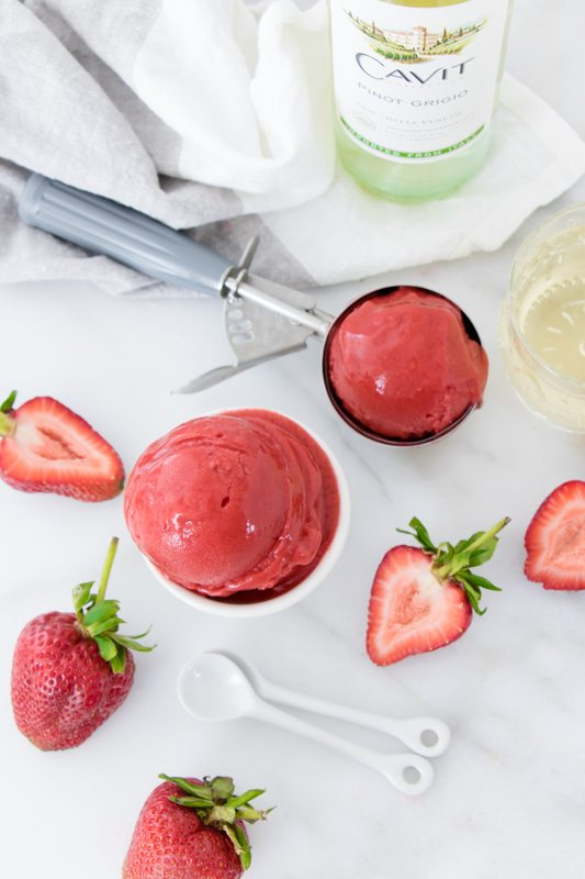 National Pinot Grigio Day: Spring Strawberry Sorbet