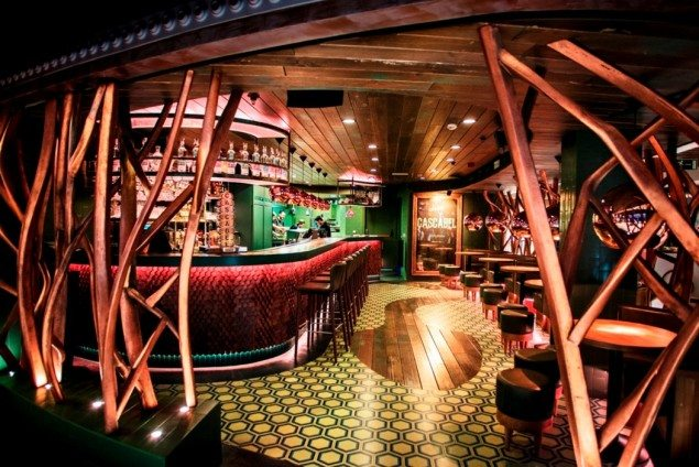The visually impressive Salon Cascabel is the perfect setting for a night out with friends.
