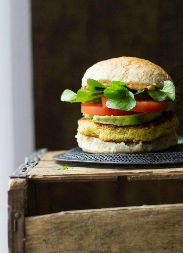 Watercress Chickpea Veggie Burgers
