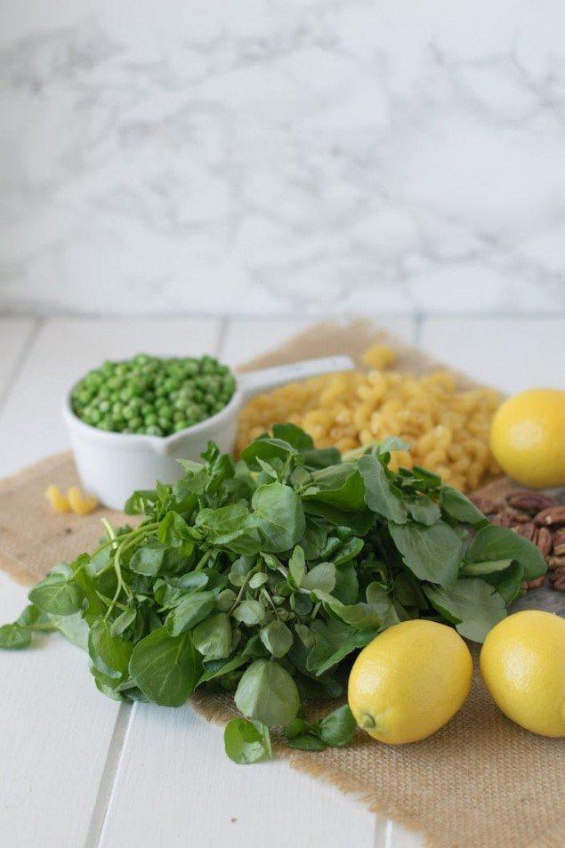 Lemon and Watercress Pesto Pasta