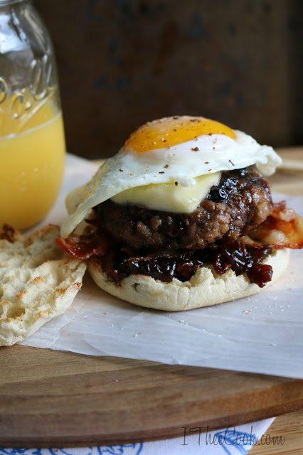 Wild Blueberry Glaze Breakfast Burger