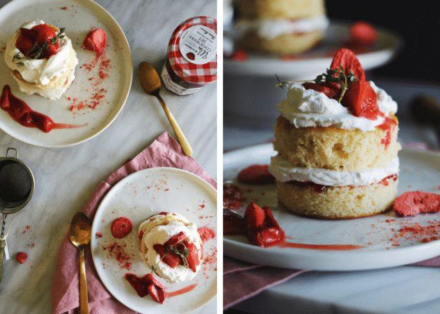 Mini Strawberry Lemon Cakes