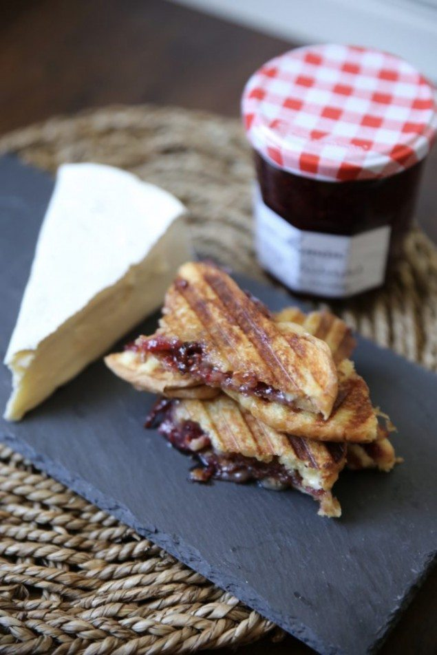 Brie, bacon and raspberry preserves make this breakfast panini extra ...