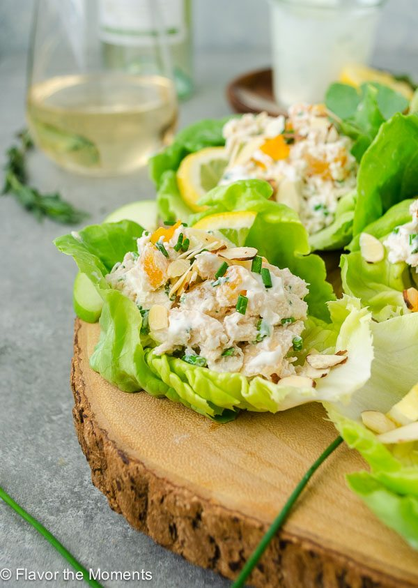 National Pinot Grigio Day: Chicken Salad Lettuce Wraps