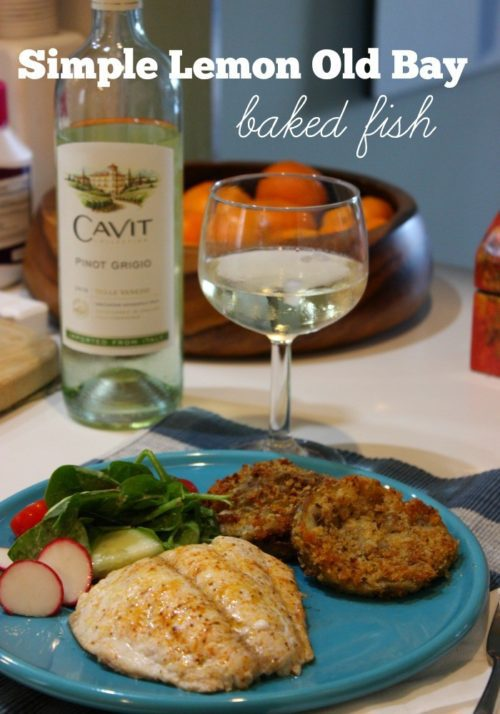 National Pinot Grigio Day: Easy Lemon and Old Bay Fish
