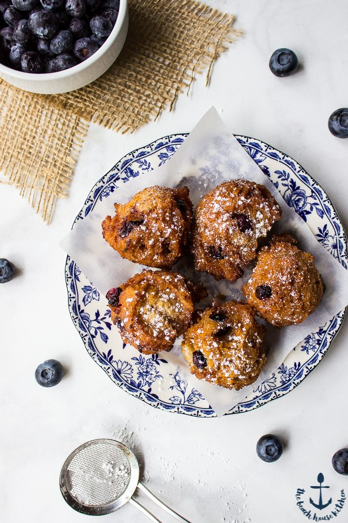 Crispy Blueberry Fritters