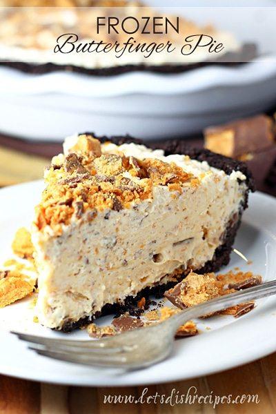 Freezer Butterfinger Pie
