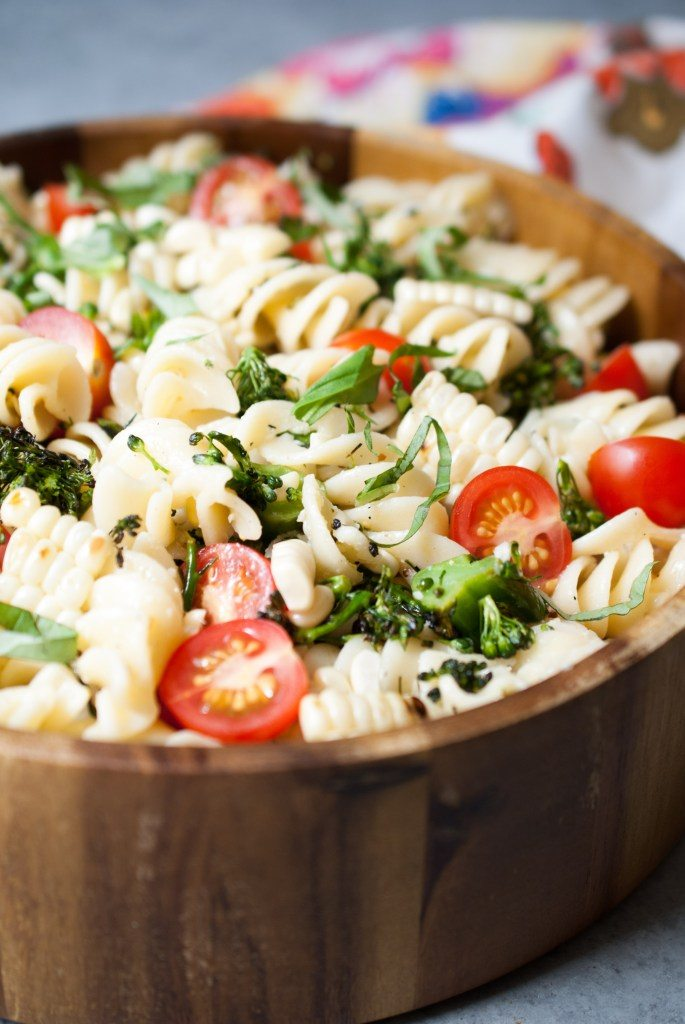 Grilled Broccoli and Corn Pasta Salad with Lemon-Garlic ...