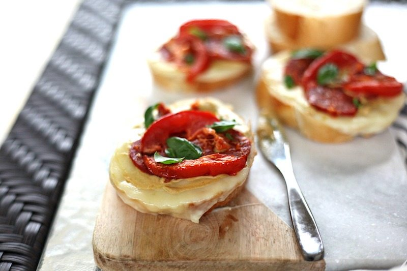 Tomato and Sausage Crostini