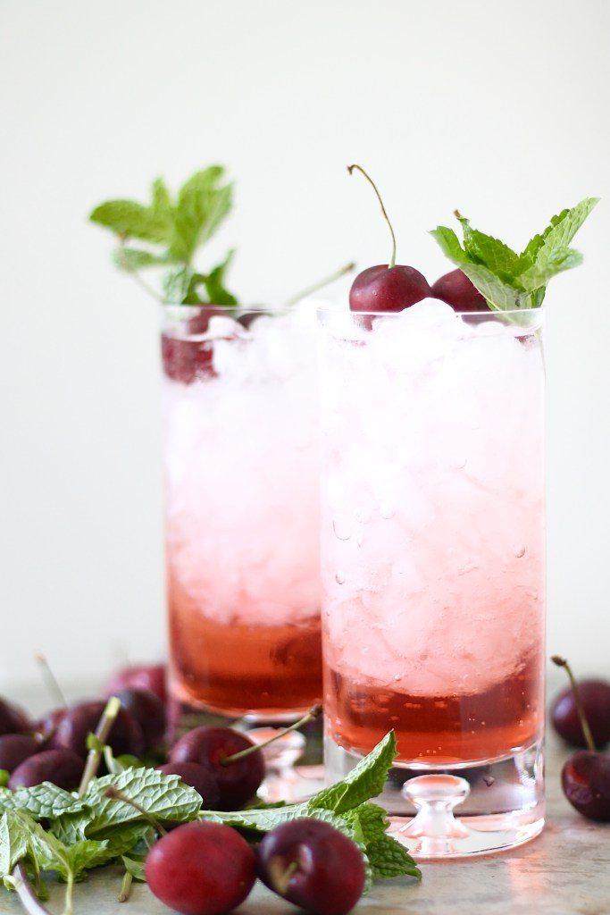 Cherry Bourbon Fizz