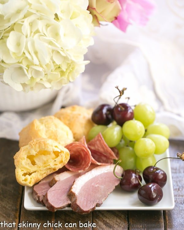 Triple Cheese Gougeres and a Charcuterie Board