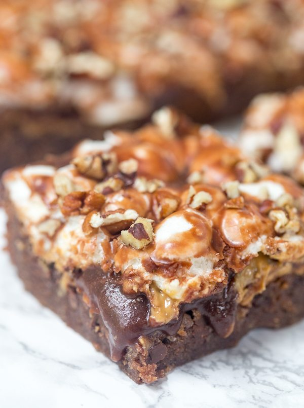 Chocolate-Loaded Mississippi Mud Brownies