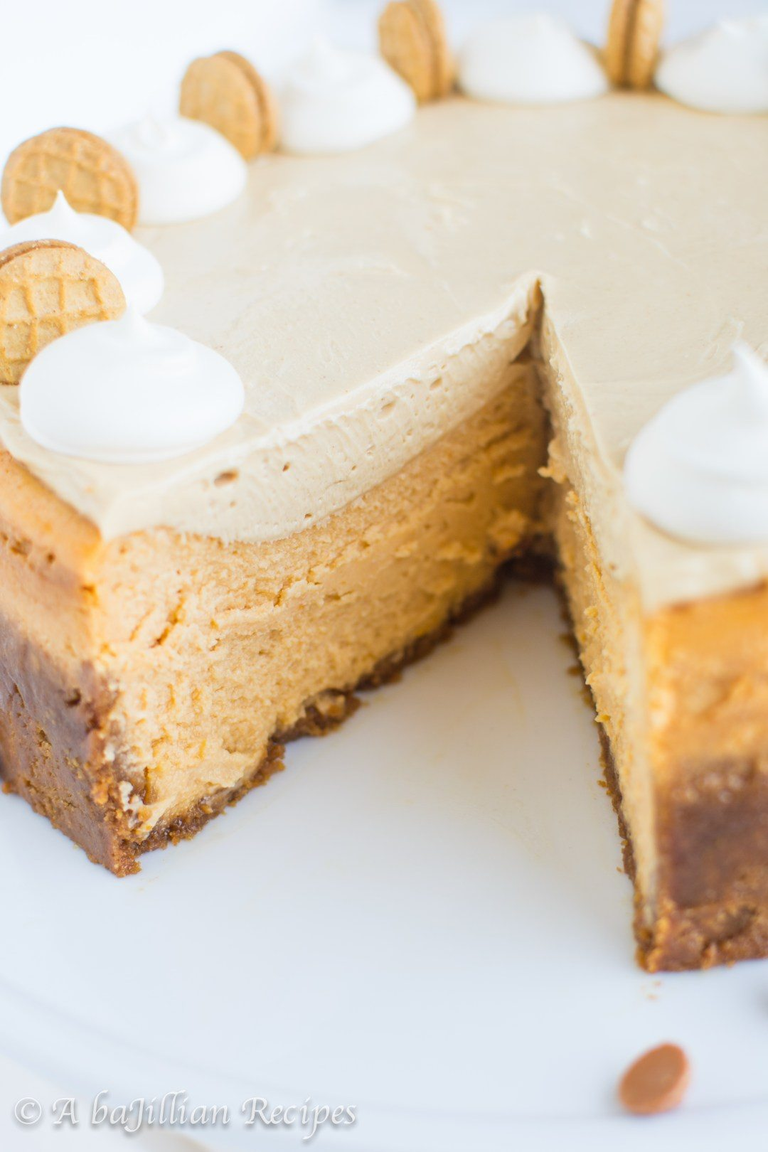 Butterscotch and Peanut Butter Cheesecake