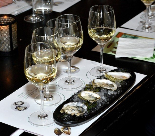 Oysters and Chablis: Guests Shuck, Slurp and Swirl Like a Pro with Oyster Expert Rowan Jacobsen, hosted by William Févre Chablis, at Catch 21 in New York, NY on May 16, 2017. (Photo by Stephen Smith/Guest of a Guest)