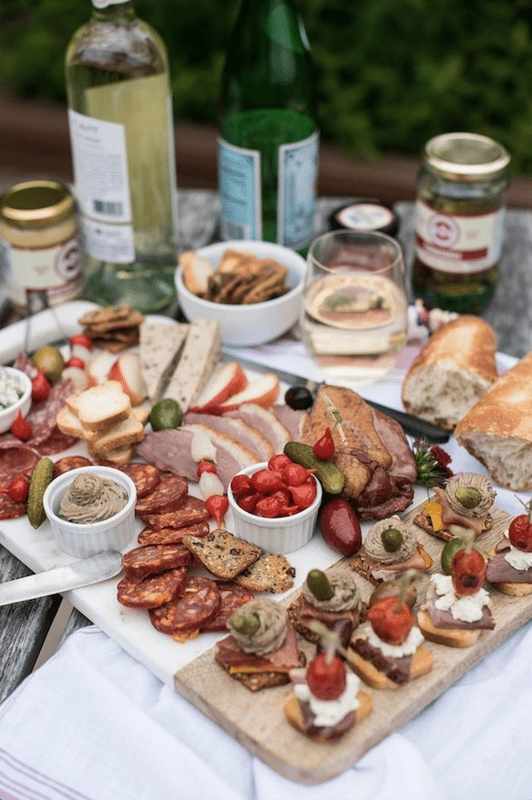 A Summer Rooftop Charcuterie Board